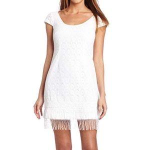 Lilly Pulitzer Nicolette white lace fringe dress 4